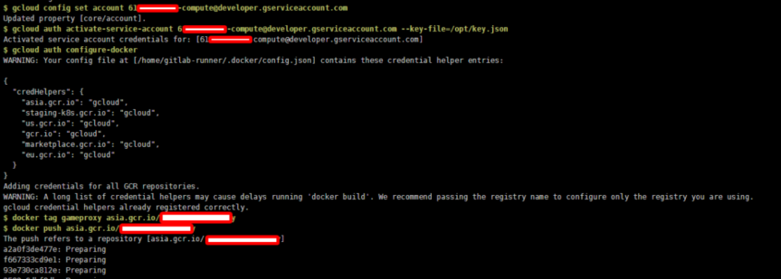 【數位3C】解決Gitlab runner使用CICD pipeline設定推送dcoker影像到GCP的錯誤問題 3C/資訊/通訊/網路 GCP-google cloud platform 架站 靈異現象&疑難雜症